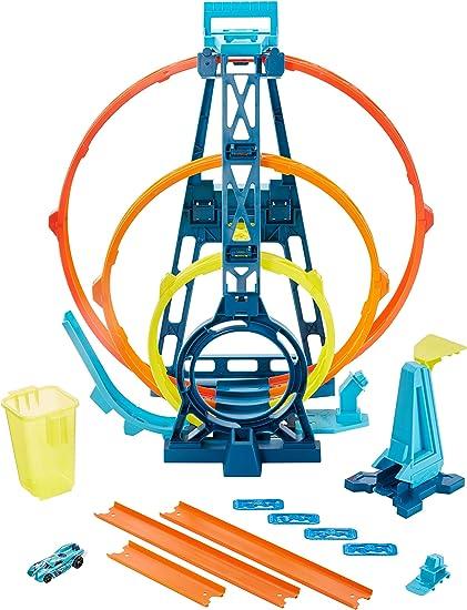 Amazon.com: Hot Wheels Track Builder Unlimited Triple Loop Kit, Multi Color, Model:GLC96: Toys & Games