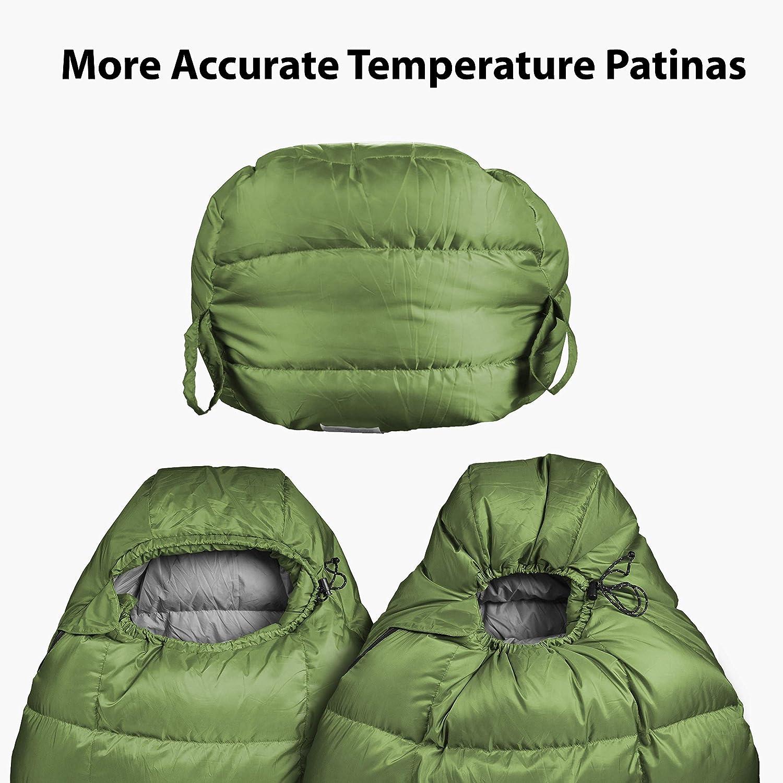 Outdoor Vitals Summit 0 F – 20 -30 F Down Sleeping Bag, 800 Fill Power, 4 Season, Mummy, Ultralight, Camping, Hiking