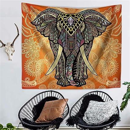 Decoración Creativa Decoración Mural Tapiz Elefante Mandala India Imprimir Tapices De Pared Toalla De Playa Bufanda