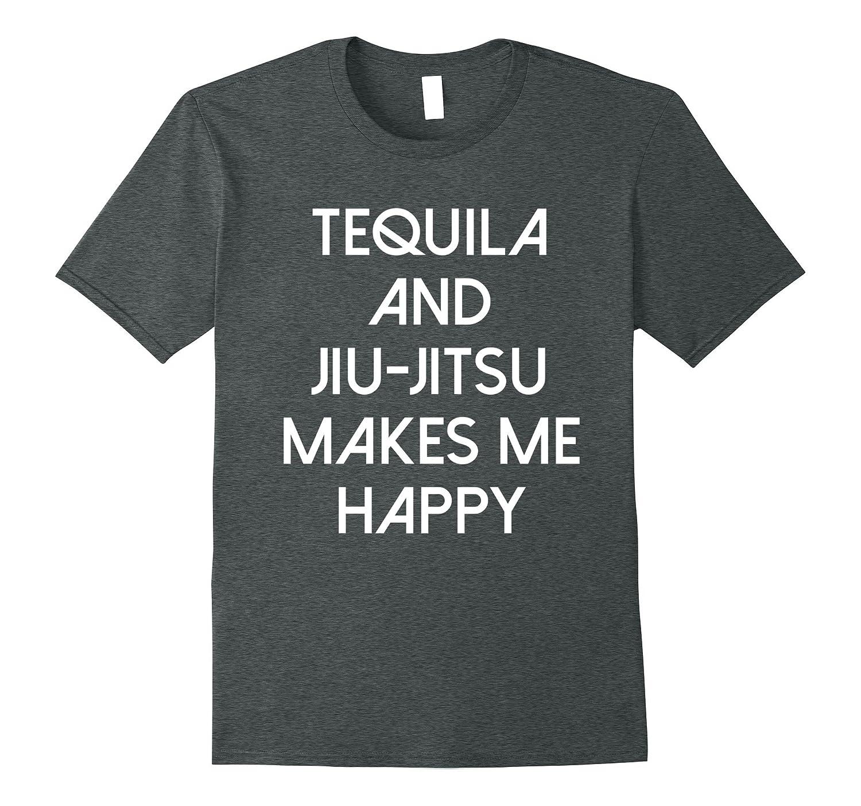 Tequila And Jiu Jitsu Funny BJJ and Mixed Martial Arts Tee-T-Shirt