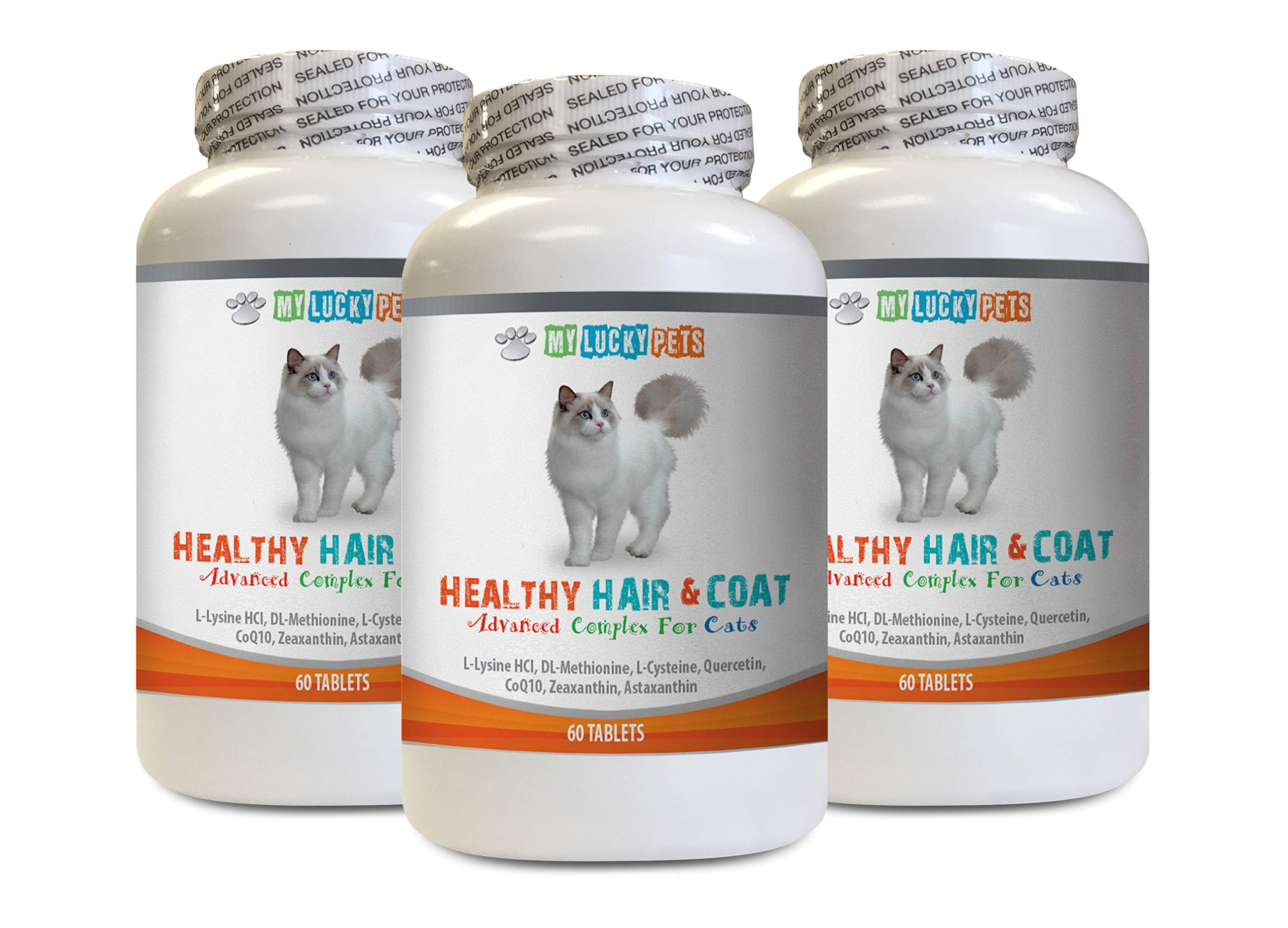 MY LUCKY PETS LLC Cats Immune Support - Cats Healthy Hair and Coat - Good Immune Response - Nail Health - Shiny Coat - Senior cat Vitamins - 3 Bottles (180 Tablets) by MY LUCKY PETS LLC