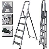 Escalera de Tijera de Aluminio Peldaño Ancho 12