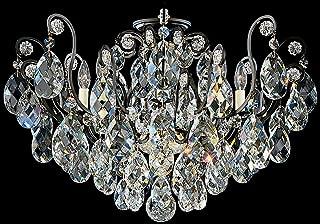 product image for Schonbek 3785-48 Swarovski Lighting Renaissance Flush Mount Lighting Fixture, Antique Silver
