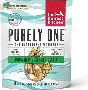 The Honest Kitchen Nice Mussels - Natural Human Grade Freeze Dried Blue & Green Mussels Dog Treats, 2 oz