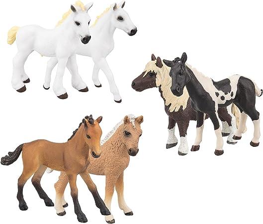 28 Horse Figurine set of Kid pony Toy Plastic Vintage Retro Animal black white brown stallion farm home Decor zoo ponies lot bulk mustang