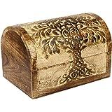 Amazoncom Hand Carved Wooden Keepsake Box Trinket Jewelry Storage