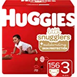 Huggies Little Snugglers Baby Diapers, Size 3, 156 Ct, One Month Supply