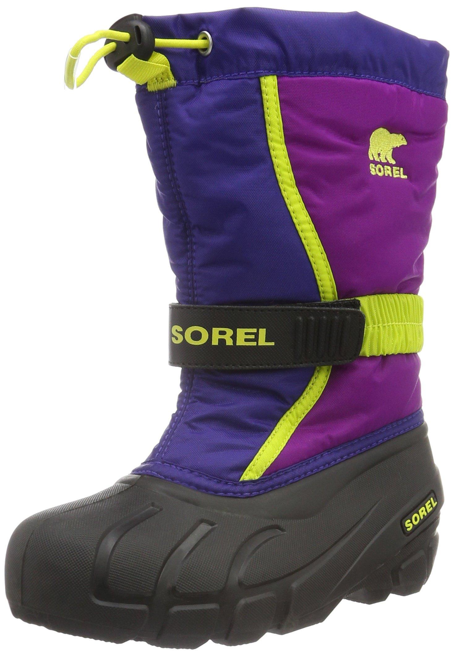 Sorel Youth Flurry-K Snow Boot, Blue, 2 M US Little Kid
