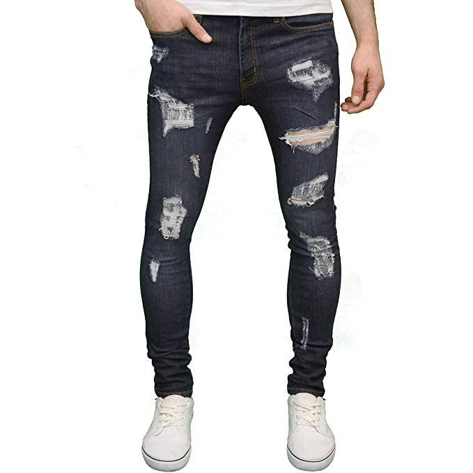 elegant appearance brand quality enjoy cheap price 526 Mens Designer Stretch Super Skinny Ripped Distressed Jeans