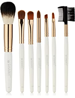 coastal scents brushes. shany super professional brush set with leather pouch, 32 count coastal scents brushes