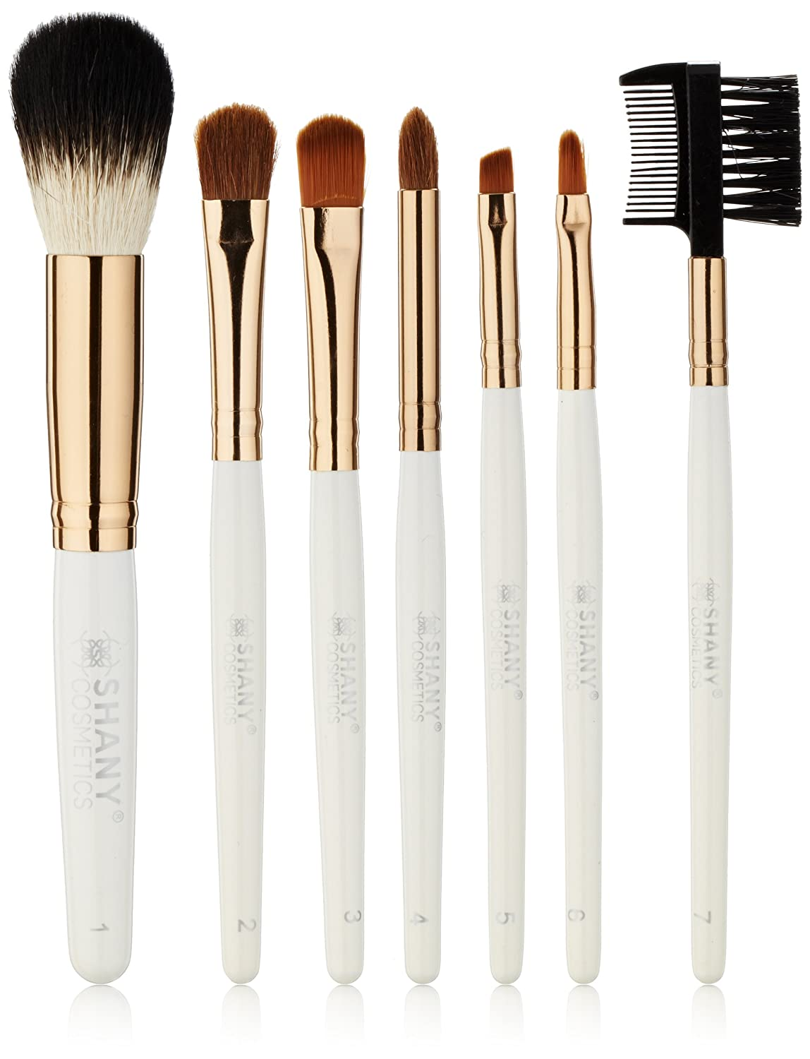 SHANY Studio Quality Natural Cosmetic Brush Set with Leather Pouch, 24 Count SHANY Cosmetics SH0024-BR