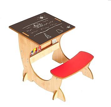 Little Helper Asi01 2 4 In 1 Holz Art Station Kinder Schreibtisch