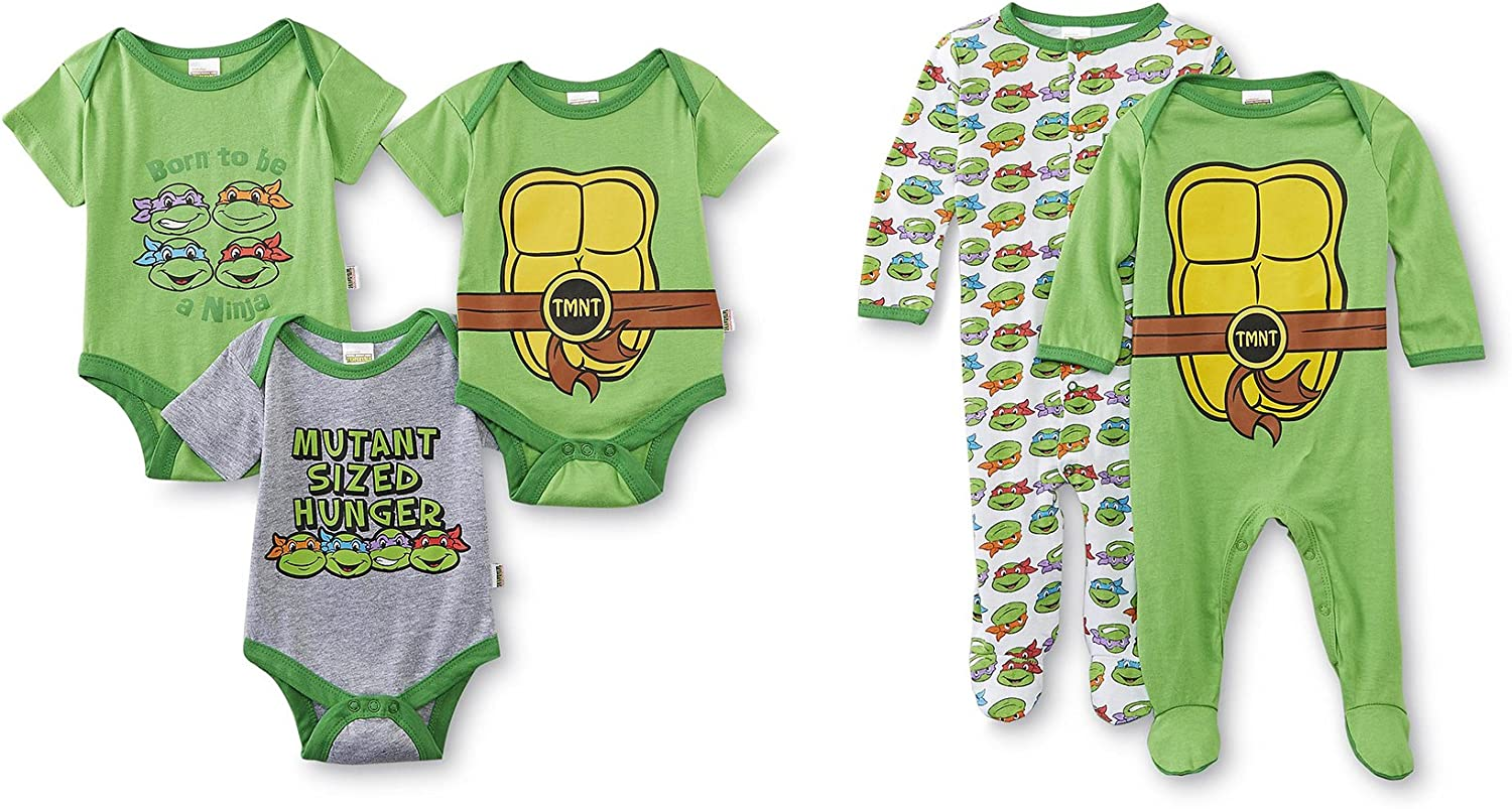 Nickelodeon tmnt 5 Pack Bodysuits & Coveralls