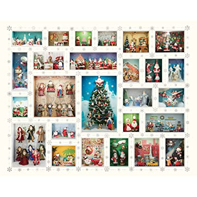 Springbok Puzzles - Santa\'s World - 1000 Piece Jigsaw Puzzle - Large 30 Inches by 24 Inches Puzzle - Made in USA - Unique Cut Interlocking Pieces: Toys & Games [5Bkhe0402321]