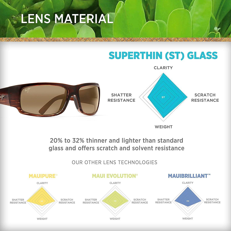 f6695dcf1ec Amazon.com  Maui Jim Sunglasses - World Cup   Frame  Chocolate Stripe Fade  Lens  HCL Bronze  Maui Jim  Clothing