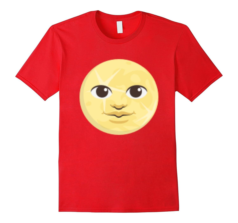 Emoji T-shirt Full Moon With Face Emoticon Lunar Phase-FL