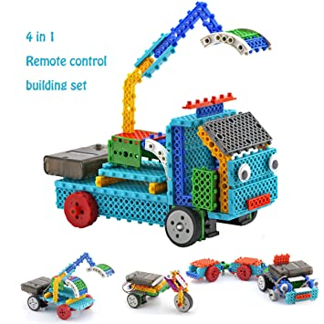 remote control building kits for kids rc machines construction set w 127pcs building blocks
