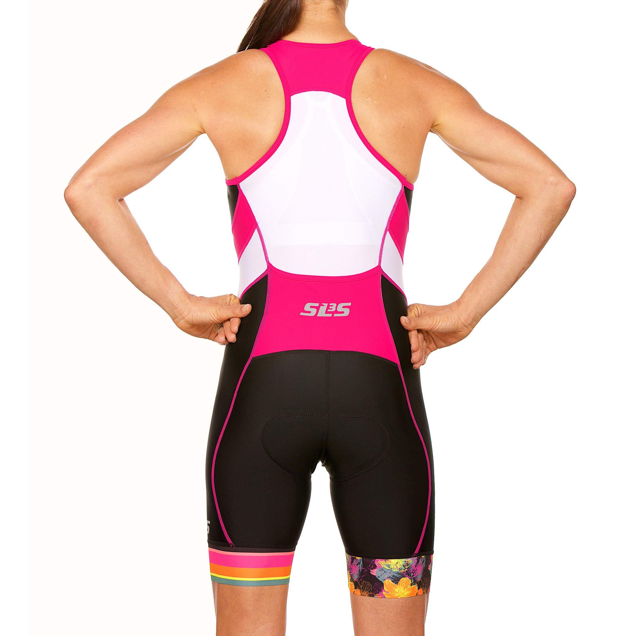 SLS3 Women`s Triathlon Suit FX | Womens Trisuits | 1 Pocket Triathlon Gear Suits Women | Anti-Friction Seams Womens Tri Suit | German Designed (Black/Bright Rose, XS) by SLS3 (Image #7)