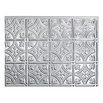 Excellent Fasade Easy Installation Traditional 1 Brushed Aluminum Backsplash Panel For Kitchen And Bathrooms 18 X 24 Panel Download Free Architecture Designs Salvmadebymaigaardcom