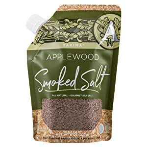 SaltWorks Yakima Applewood Smoked Sea Salt, Artisan Pour Spout Pouch, 8 Ounce