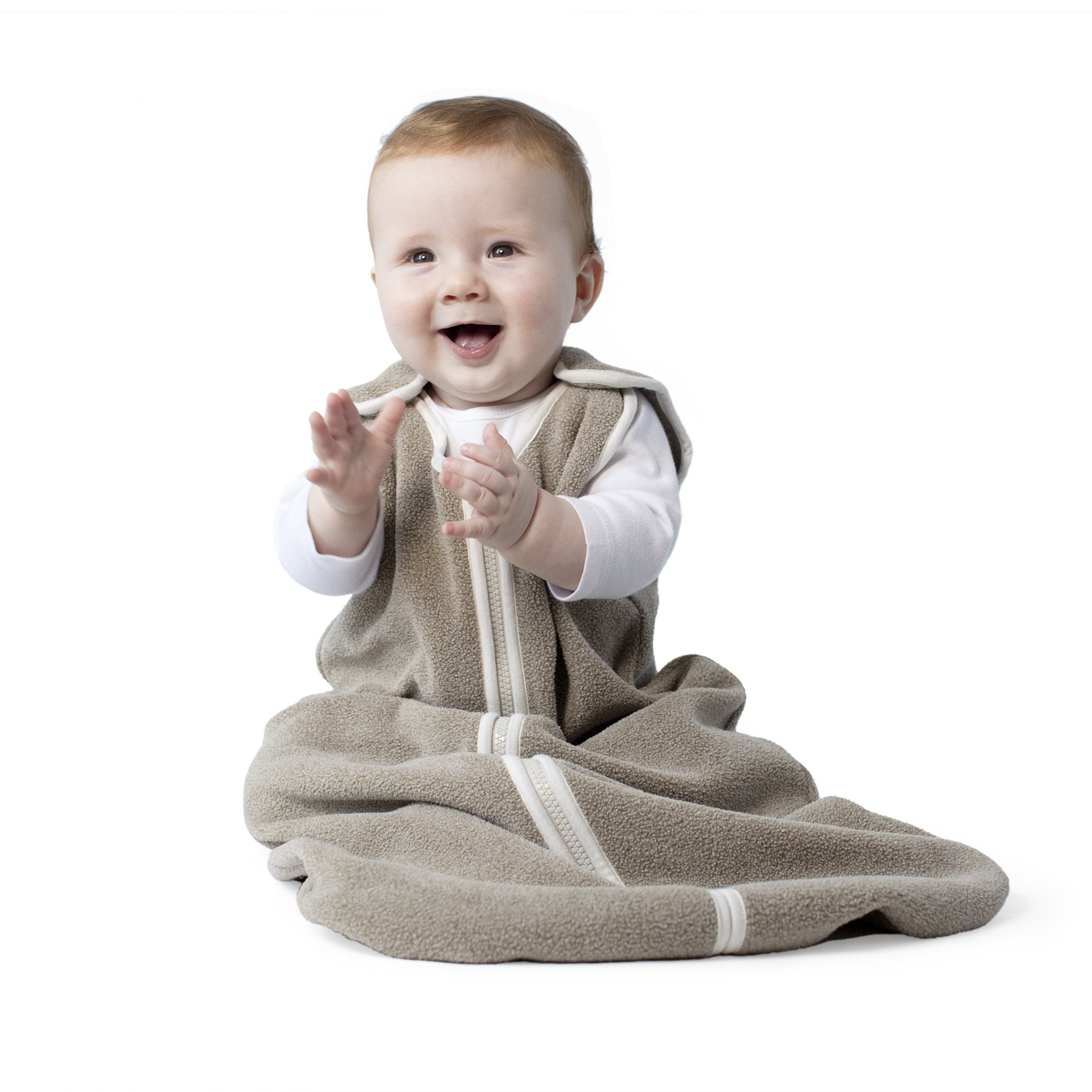 Sleep nest fleece baby sleeping bag, Mocha Heather, Large