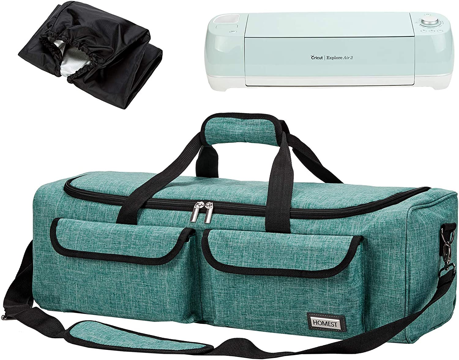 HOMEST Carrying Case Compatible with Cricut Explore Air 2, Cricut Maker, Silhouette CAMEO3, Green (Patent Design)