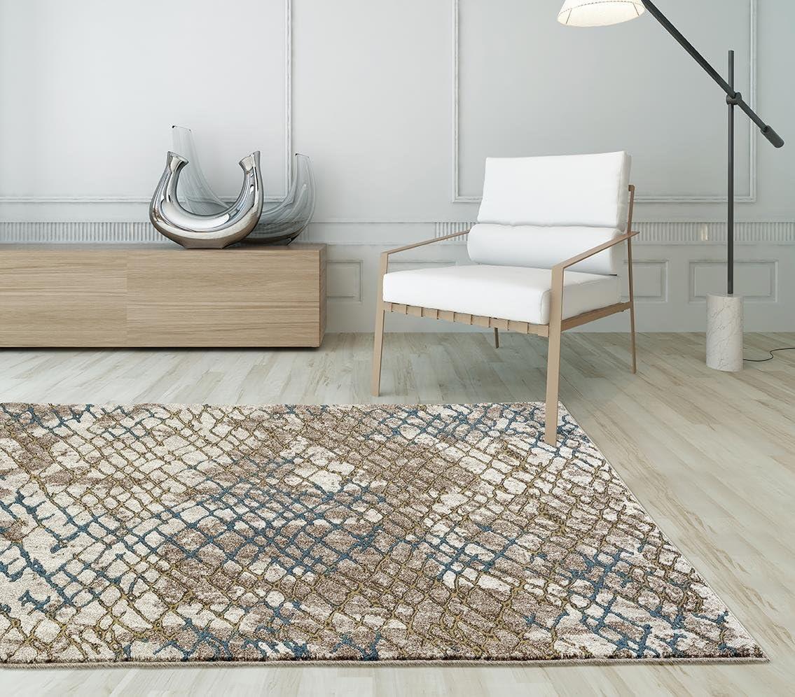 Persian-Rugs 6047 Modern Web Carpet, 5 x 7 Feet