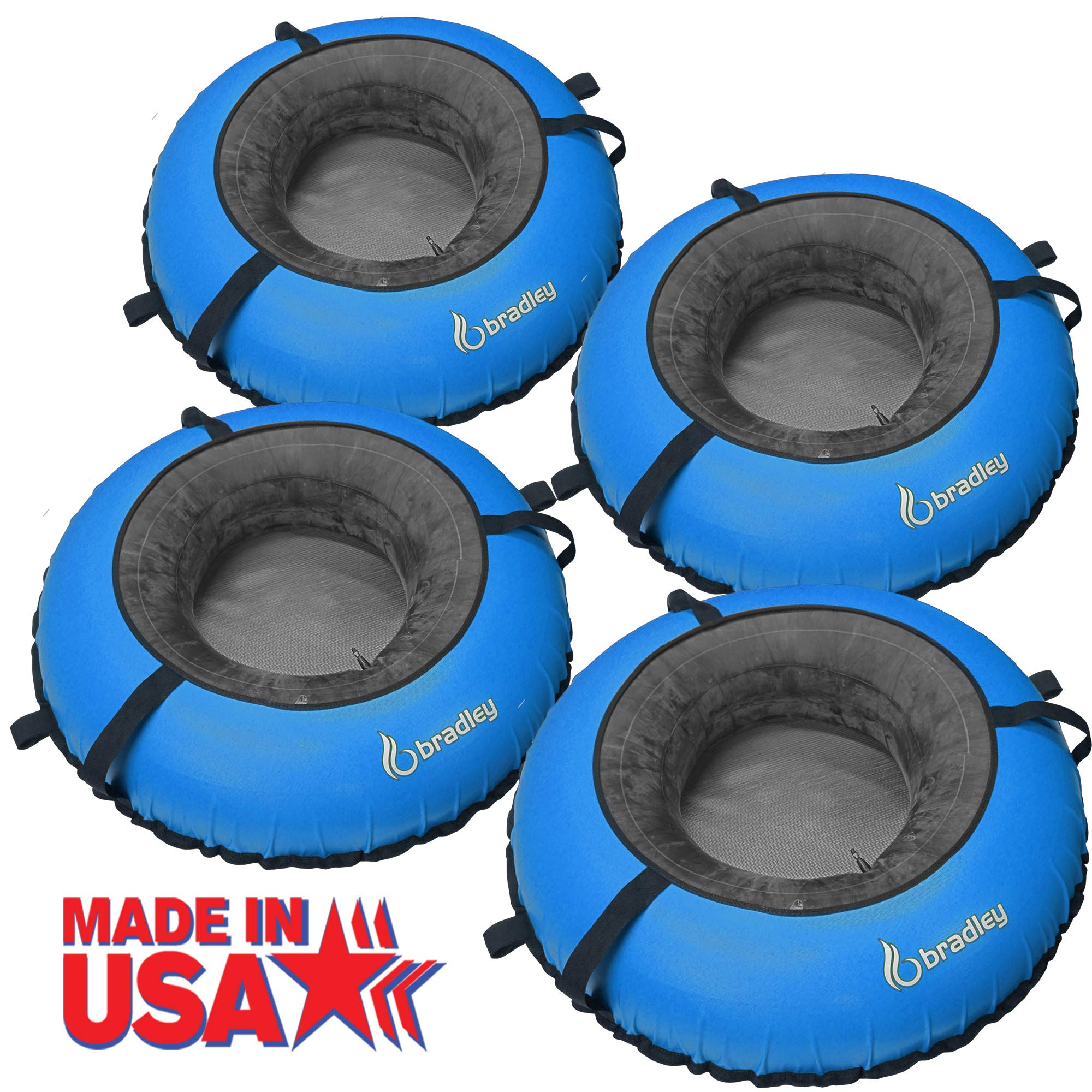 Bradley River Tubes 4 Pack | Heavy Duty Truck Tire Inner Tubes & Cover | Linking River Tubes | Connecting River Run Tube