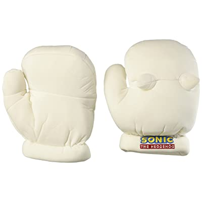 """GE Animation GE-8807 Sonic the Hedgehog Knuckles Cosplay Plush Gloves, White, 9"""": Toys & Games"""