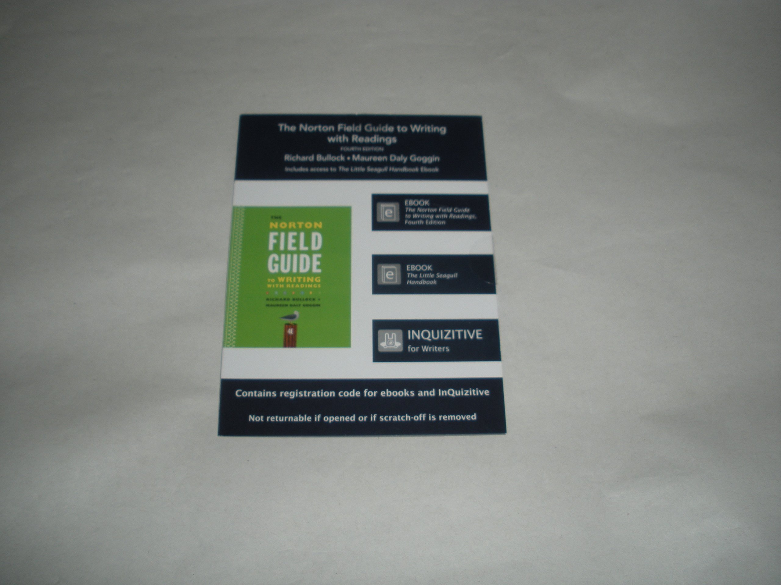 Read Online Printed Access Code Card for Use with The Norton Field Guide to Writing With Readings 4th Edition pdf epub