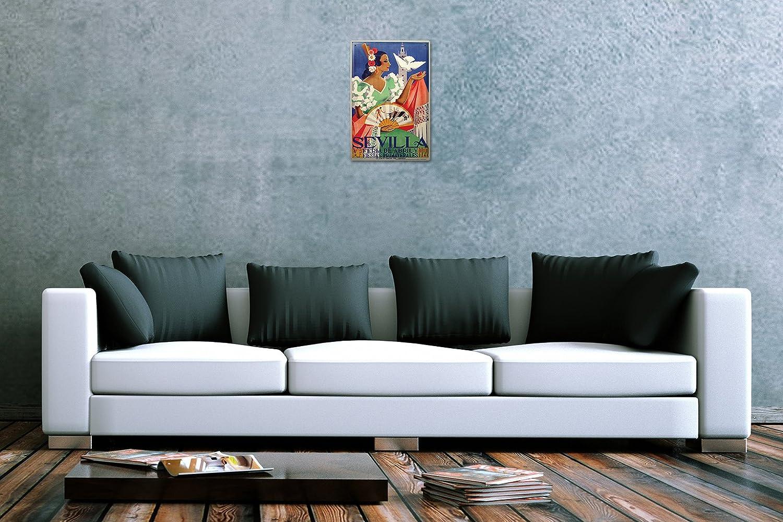 LEotiE SINCE 2004 Plaque en M/étal M/étallique Poster Mural tin Sign Ville Espagne S/éville Flamenco