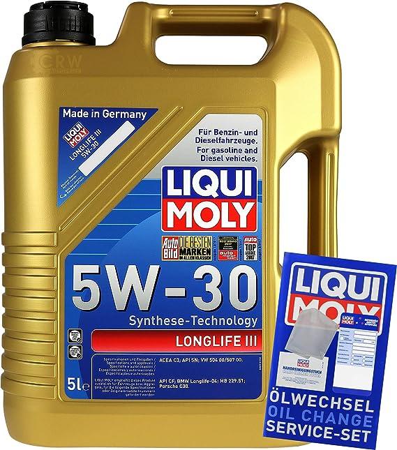 Filter Set Inspektionspaket 5 Liter Liqui Moly Motoröl Longlife Iii 5w 30 Mann Filter Innenraumfilter Luftfilter Ölfilter Auto