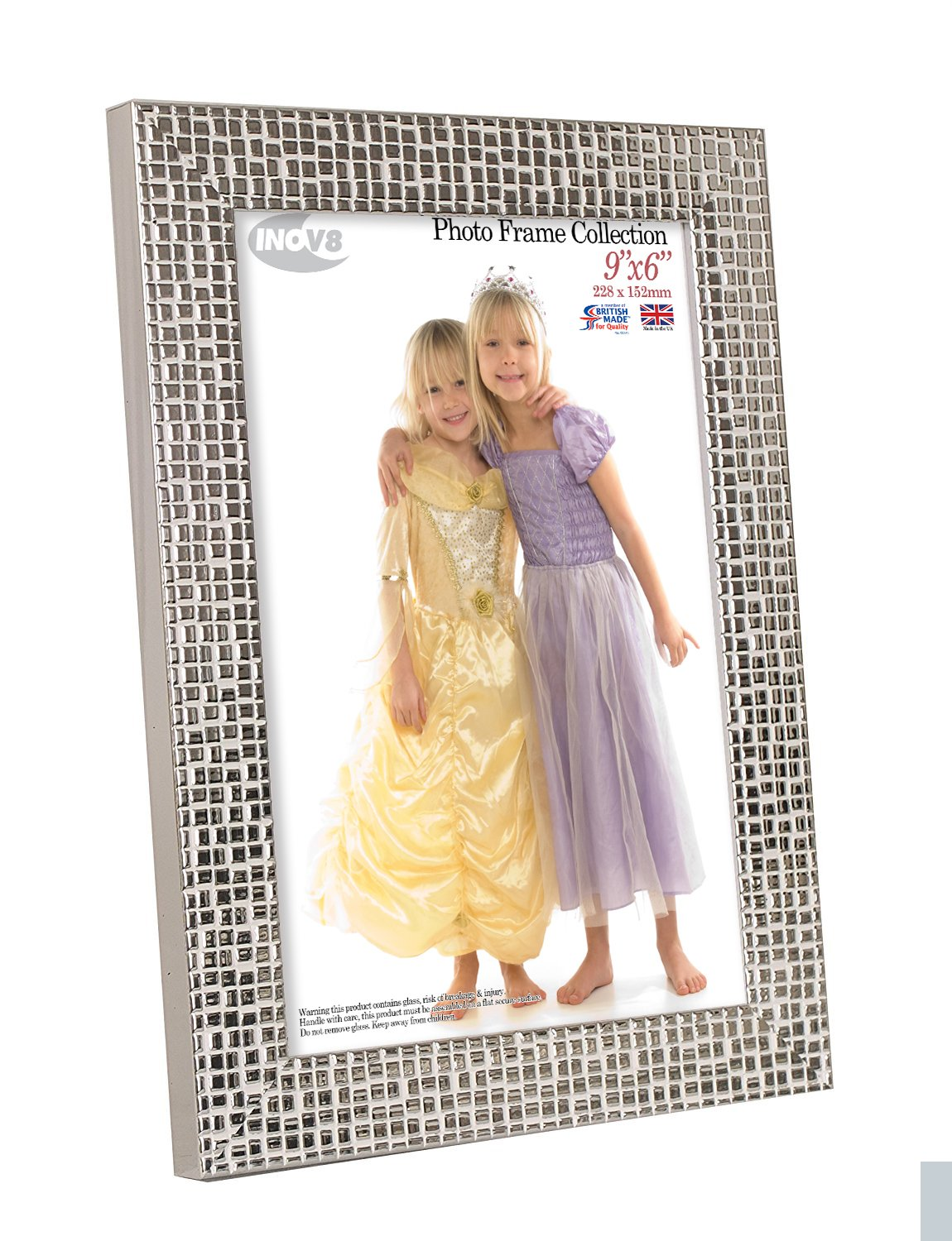 Inov8 9 x 6-Inch British Made Picture/Photo Frame, Mosaic Silver ...