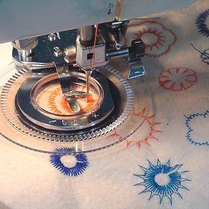 JOYOOO Flores decorativas puntada pie prensatelas máquinas de coser domésticas para El Hermano, Babylock,