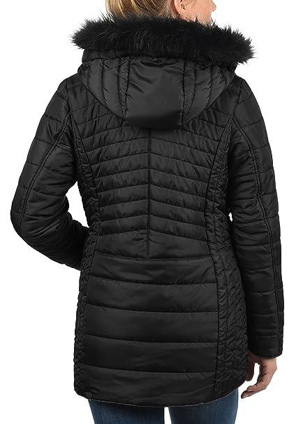 BlendShe Sabia Cazadora Chaqueta Acolchada De Plumas Abrigo con Capucha Efecto Pelo para Mujer con Capucha