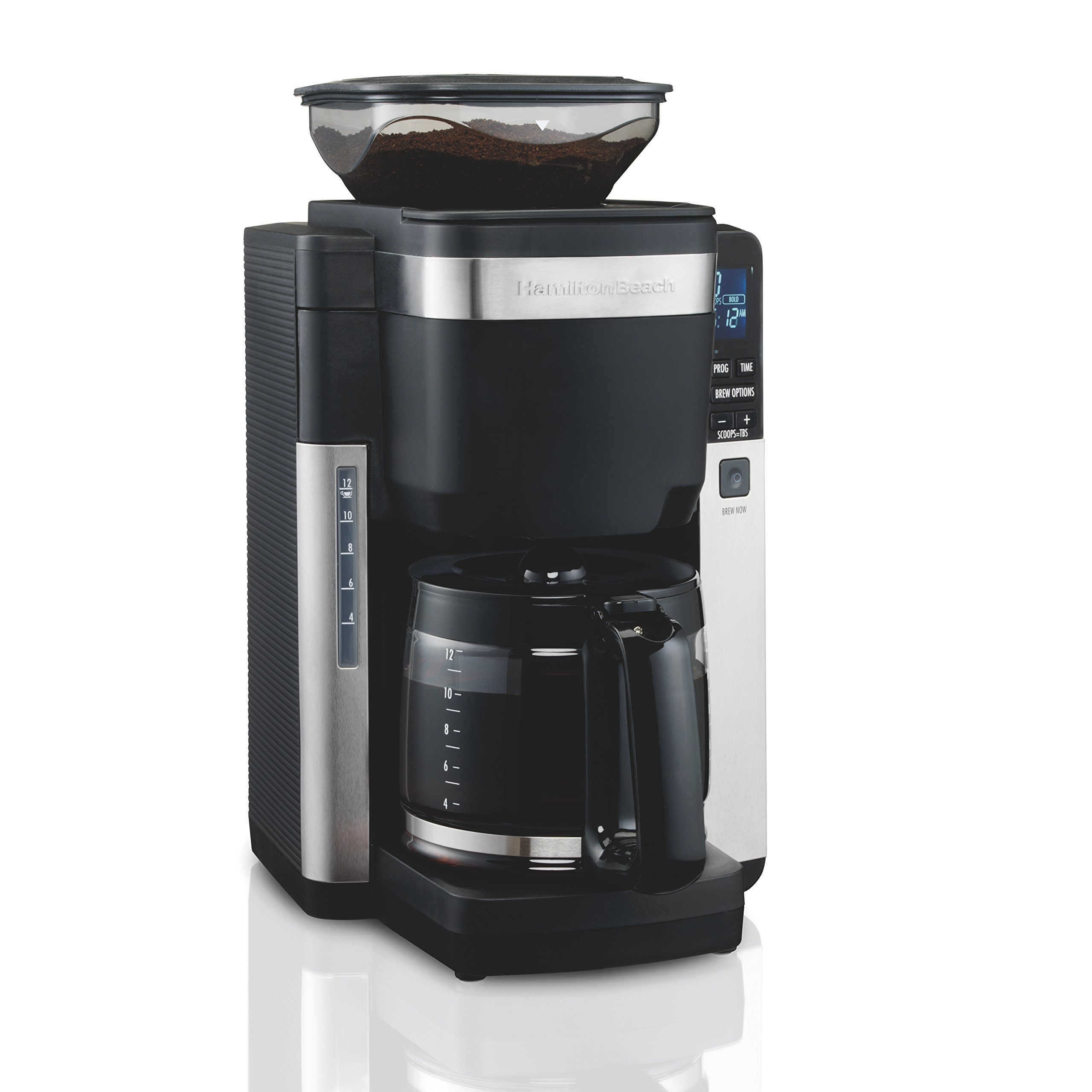 Hamilton Beach 45400 Coffee Maker, Automatic Grounds Dispensing for Pre-Ground Coffee, Black