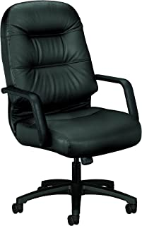 product image for HON Leather Executive Chair - Pillow-Soft Series High-Back Office Chair, Black (H2091)