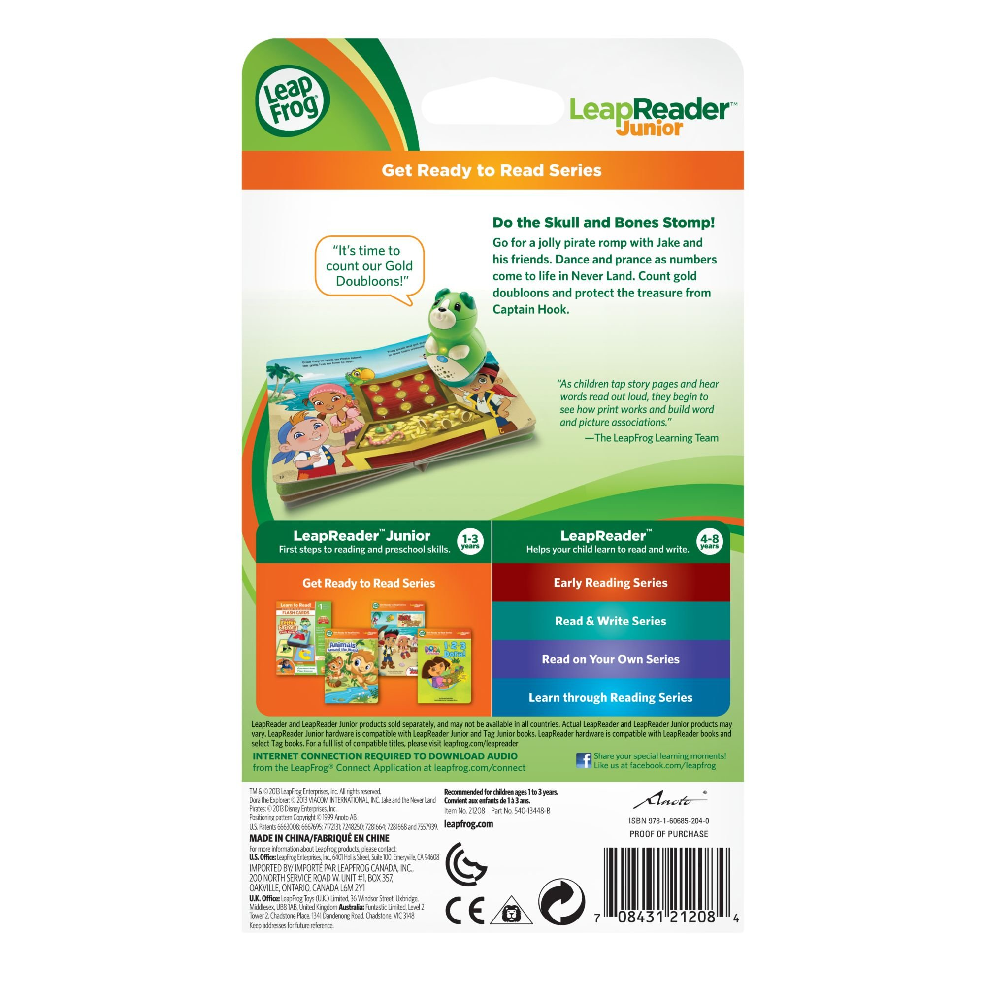 LeapFrog LeapReader Junior Book: Disney's Jake and the Never Land Pirates (works with Tag Junior) by LeapFrog (Image #5)