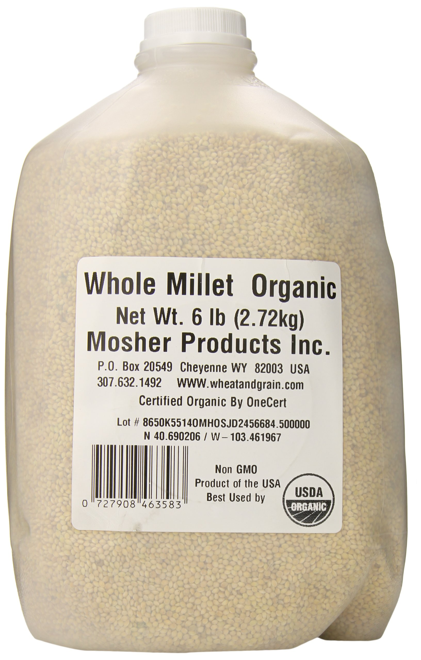 Mosher Products Organic Whole Millet, 6  Pound