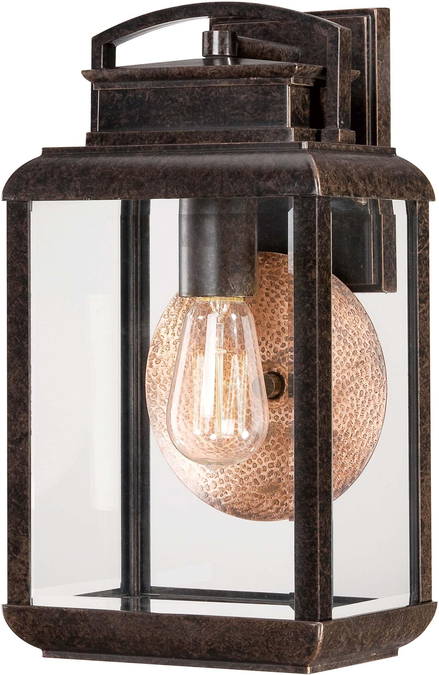 Quoizel BRN8408IB Byron Outdoor Farmhouse Lantern Wall Sconce, 1-Light, 100 Watts, Imperial Bronze (15'' H x 8'' W)