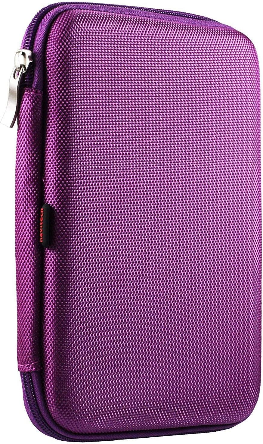 Navitech Purple Hard Protective EVA Case Cover Compatible with The Wacom Intuos Graphics Drawing Tablet 7.9x 6.3