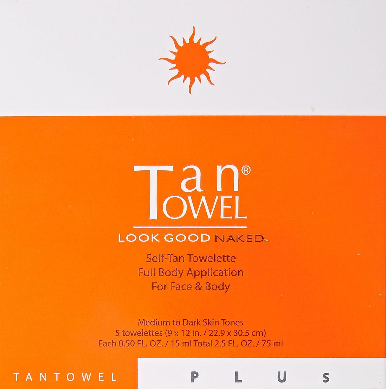 Tan Towel Self Tan Towelette Plus, 5 Count