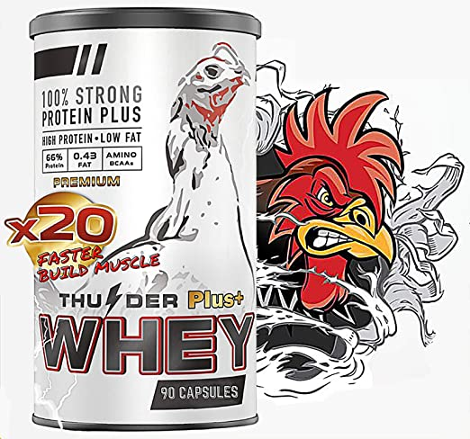 Rooster Booster Faster X3 New Formula 90 Capsules Whey Protein Vitamins HEALTH SUPPLEMENT CAPSULES Mixed Nourishing Fighting Chicken for Big Muscle & Mass Gain, Breeding, Healthy, Strong, Hen Feed