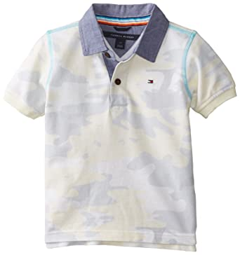 dd7040cb Tommy Hilfiger Toddler Boys' Camo Polo, Irish Cream, 02 Regular