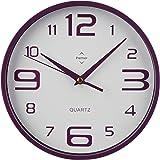 Premier Housewares 2200574 Horloge Murale en Plastique Violet/Blanc