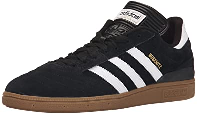 adidas Originals Men's Busenitz Fashion Sneaker, blackWhiteGoldMetallic, 4