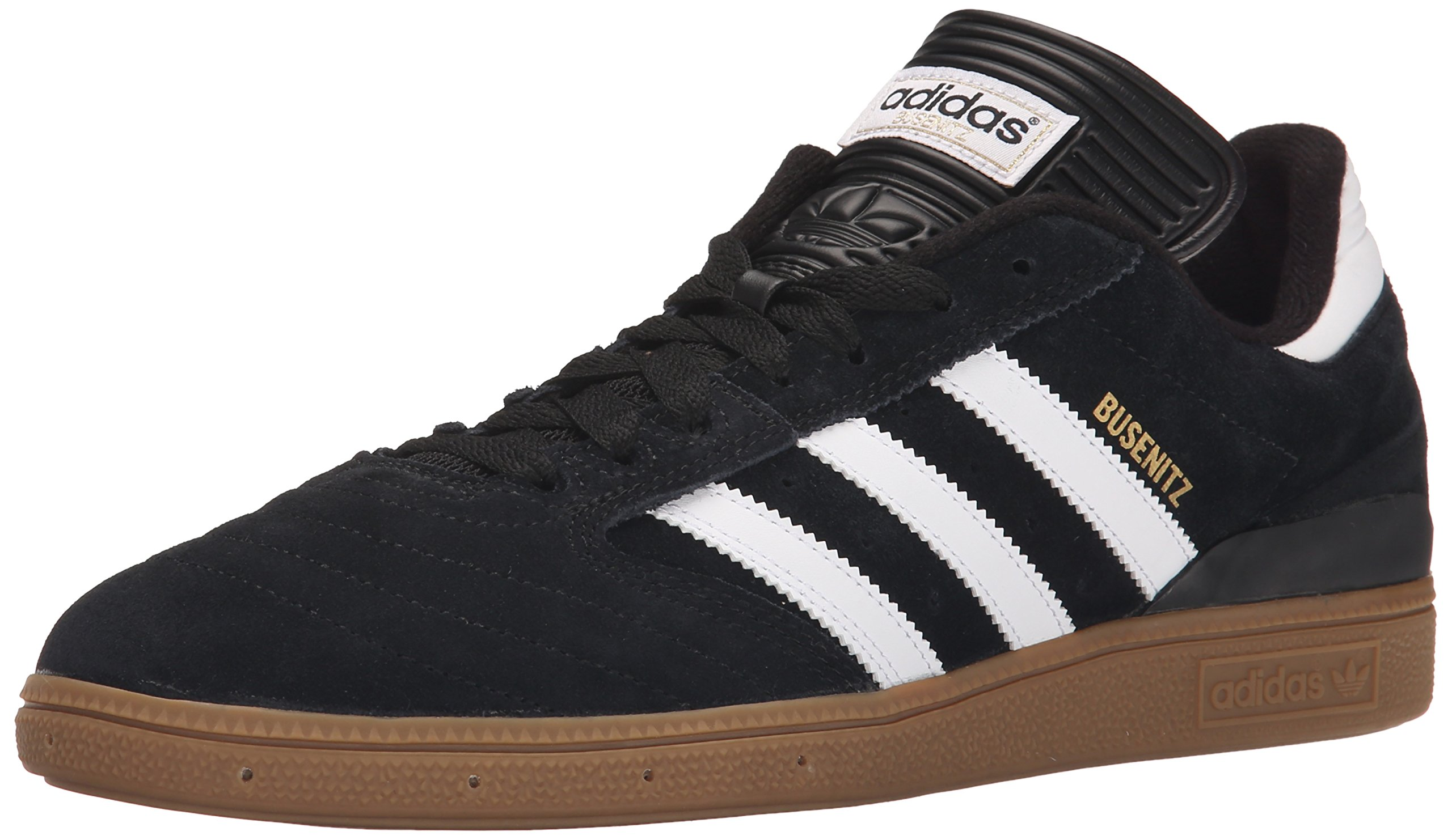 adidas Men's BUSENITZ Shoe, core black, ftwr white, gold met, 10.5 M US