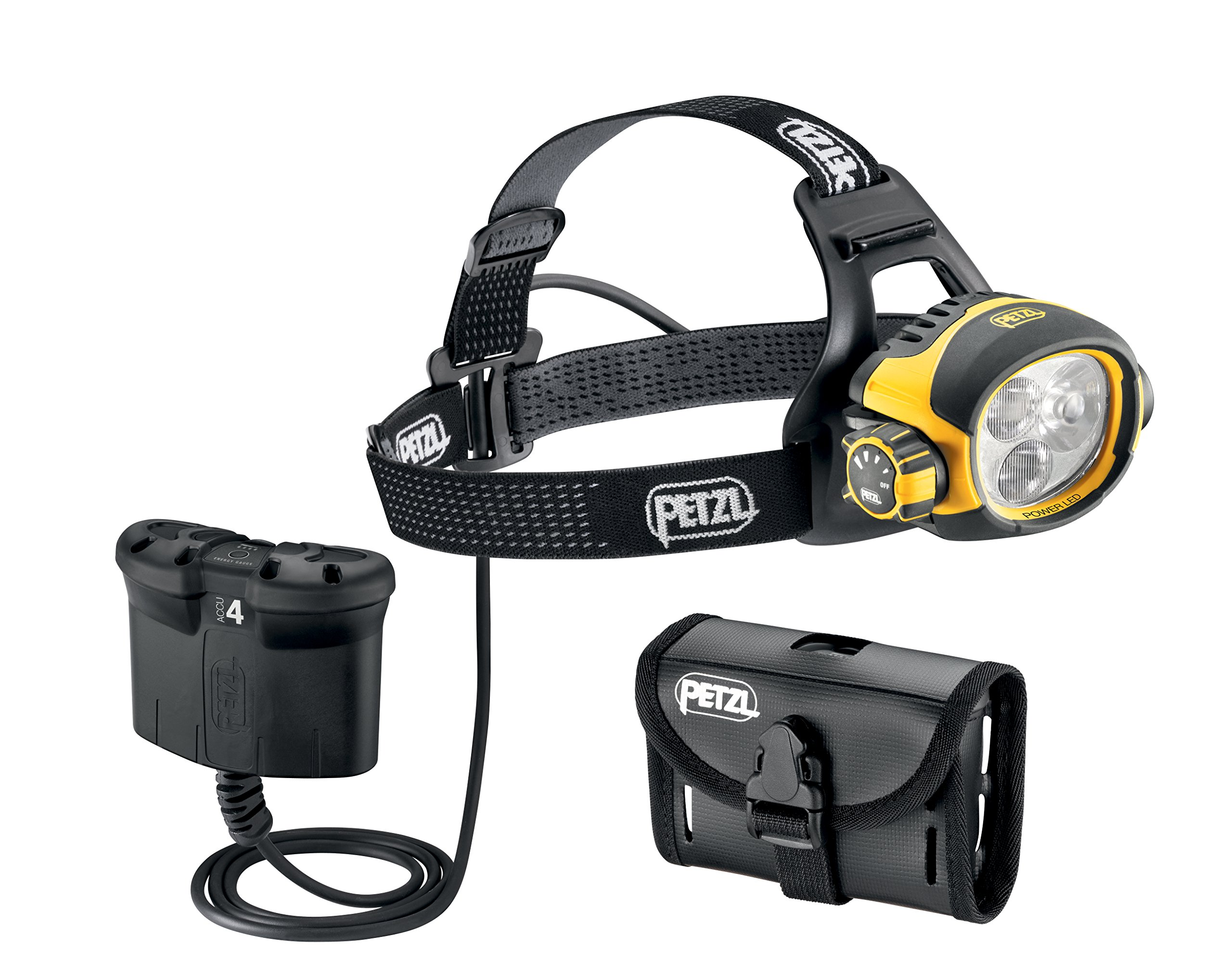 Petzl - ULTRA VARIO BELT Headlamp, 520 Lumens, Constant Lighting, Multi-Beam, with ACCU 4 Battery & Pouch