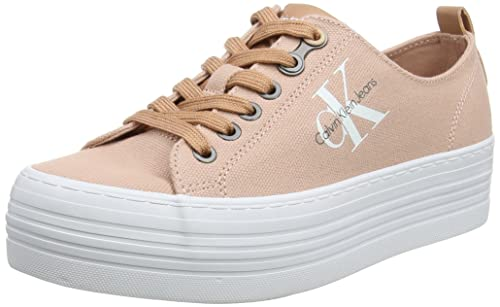Calvin Klein Jeans Zolah Canvas, Zapatillas para Mujer, Rosa (Dsk 000), 38 EU