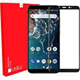 CASE U Mi A2 Full Adhesive 5D Tempered Glass for Mi A2 - (Pack of 1, Black)